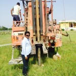 Water Bore Hole being created to enable planting and watering of crops